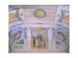 Frescoes in Gallery at Villa Chigi, Rome Giclee Print by Pietro da Cortona