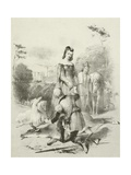 The Fair Forester, King James I and His Daughter in Greenwich Park Giclee Print by Joseph Nash
