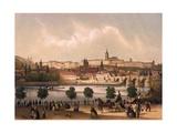 View of the Little Quarter and Prague Castle Hradcany, C.1845 Giclee Print by Francois Joseph Sandmann