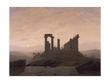 The Temple of Juno in Agrigento Gicléedruk van Caspar David Friedrich