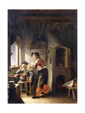 An Old Alchemist and His Assistant in their Workshop Lámina giclée por Frans Van Mieris