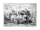 A Brighton Hot Bath, or Preparations for the Wedding, 1816 Giclee Print by George Cruikshank