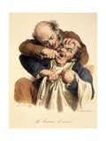 Le Baume L'Acier - Having a Tooth Pulled, Pub. in Paris, 1826 Giclee Print by Louis Leopold Boilly
