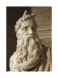 Moses, Detail from the Tomb of Julius II, Circa 1515 Giclee Print by  Michelangelo Buonarroti