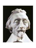 Detail of the Face from Cardinal Richelieu, 1640 Giclee Print by Gian Lorenzo Bernini