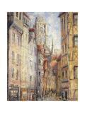 Rouen, a Street by the Church; Rouen, Rue Avec L'Eglise, C.1920 Giclee Print by Gustave Loiseau
