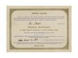 Ticket for Charles Dickens Amateur Dramatic Performance, 1845 Giclee Print