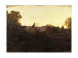 Autumn Evening or Valpozzo, 1903 Giclee Print by Giuseppe Pelizza da volpedo
