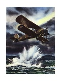 Fairey Swordfish Sinking a U-Boat in the North Sea Giclee Print