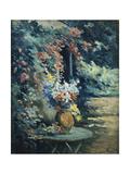 Flowers in a Landscape; Bouquet De Fleurs Dans Un Paysage Giclee Print by Maximilien Luce