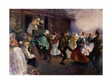 Soldiers Dancing with Peasants, 1919 Giclee Print by Henry Tonks