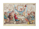 Modern Reformers in Council - or - Patriots Regaling, 1818 Giclee Print by Isaac Robert Cruikshank