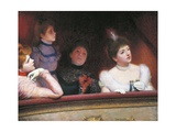 Stage or Au Theatre, 1885-1895 Giclee Print by Federico Zandomeneghi