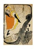 Poster of Jane Avril Giclee Print by Henri de Toulouse-Lautrec