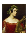 Lady Theresa Spence in Role of Sappho, 1837 Giclee Print by Joseph Karl Stieler