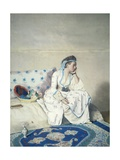 Portrait of Marie Fargues Wearing Turkish Clothing Giclee Print by Jean-Etienne Liotard