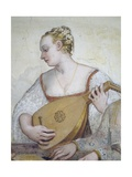 Female Musician, Detail from Concert Giclee Print by Giovanni Antonio Fasolo