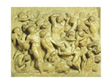 Battle of Lapiths Against Centaurs Giclee Print by  Michelangelo Buonarroti