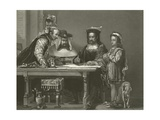 Columbus Planning the Discovery of America, 15th Century Giclee Print by Sir David Wilkie