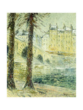 The Pont Marie in the Snow; Le Pont Marie, Effet De Neige, C.1926 Giclee Print by Gustave Loiseau