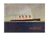Cunard Line Promotional Brochure for 'Mauretania' C.1930 Giclee Print