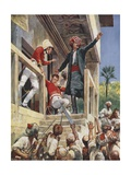 The Attack on the House of Sir Alexander Burnes, 1841 Giclee Print by Richard Caton II Woodville