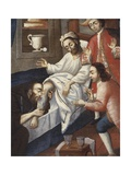 Religious Men Treating a Patient at St. Andrew Hospital, Cuzco Giclee Print by Marcos Zapata