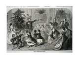 The Christmas Tree, Illustration from 'Harper's Weekly', 1870 Giclee Print