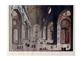 Interior of the Great Basilica of San Pietro in the Vatican Giclee Print by Carlo Gilio