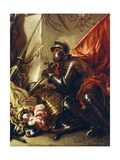 Soldier Holding Banner, Detail from Allegory of War Giclee Print by Luca Giordano