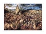 The Procession to Calvary, 1564 Giclée-Druck von Pieter Bruegel the Elder
