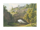 View of the Famous Kuhstall Cave in Saxon Switzerland Giclee Print by Christian Gottlob Hammer