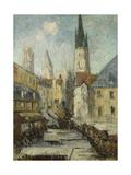 Rue De L'Epicerie Et La Cathedrale De Rouen, C.1929 Giclee Print by Gustave Loiseau