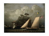 Picture of 'The Dream' Pleasure Yacht, 1839 Giclee Print by Robert Salmon