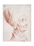 Portrait of a Man Said to Be Voltaire, Small Bust-Length, in Profile Giclee Print by Daniel Nikolaus Chodowiecki