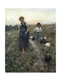 Returning from Fields Giclee Print by Francesco Paolo Michetti