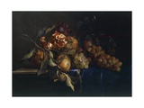 Still Life with Fruit and Objects Giclee Print by Willem van Aelst