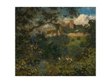 Richmond Castle Through the Trees, North Yorkshire, C.1939 Giclee Print by Philip Wilson Steer