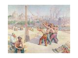 Workers on the Quai De La Seine at Billancourt, 1902-3 Giclee Print by Maximilien Luce