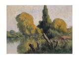 Rolleboise, Small Arm of the Seine in Autumn, C.1925 Giclee Print by Maximilien Luce