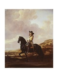 Equestrian Portrait of Pieter Schout Giclee Print by Thomas de Keyser