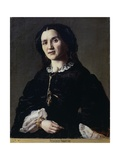 Portrait of a Lady in Costume Giclee Print by Federico Faruffini