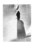 Study for La Grande Jatte, Woman Fishing, 1884 Giclee Print by Georges Seurat
