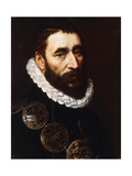 Portrait of a Bearded Man, Bust-Length, Wearing Gorgets Giclee Print by Adriaen Thomasz Key