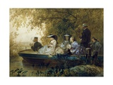 Boat Tour, 1857 Giclee Print by Eugene Charles Francois Guerard