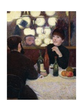 Nouvelle Athenes Cafe', 1885 Giclee Print by Federico Zandomeneghi