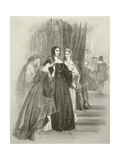 The Summons, Katherine Queen of England, Come into Court Giclee Print by Joseph Nash