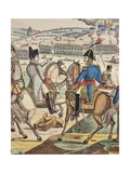 Napoleon and Marshal Ney at the Battle of Jena, October 1806 Giclee Print by Jean-Charles Pellerin