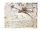 Project for Flapping-Wing Machine Giclee Print by Leonardo da Vinci