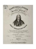 Title Page of Art of Fugue Giclee Print by Johann Sebastian Bach